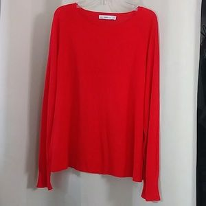 Red Zara Knit Pullover Top